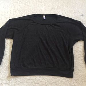 American apparel black sweatshirt